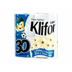 Papel higienico Klifor 4x30m hoja simple